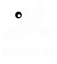 The Konichiwa Records logo showing a simple flying bird graphic